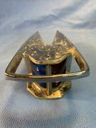 Vintage Chrome Plated Metal Bow Running Light 9000-1 Nautical Boat Blue Red Cc1