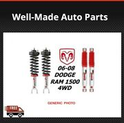 Rancho Front Quicklift Struts Andrs9000xl Rear Shocks For Dodge Ram 1500 4wd 06-08
