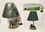 New Open Box John Deere Tractor Lamp 14 Tall With Fabric Shade End Table