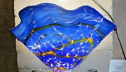 Shimmer Large Hand-made Art Glass Shade For Chandelier Table Or Floor Lamp