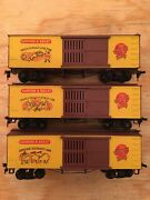 Ho Roundhouse Lot Of 3 Barnum And Bailey Circus 36' Elephant Horse Tiger Boxcars