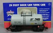 Usa Trains R15217 G Norfolk Southern Beer Can Tank Car Gray