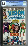 Vision And The Scarlet Witch V2 12 Cgc 9.6 1986 Wandavision Marvel Disney