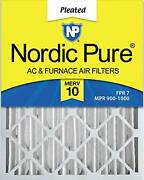 Nordic Pure 16x25x4 Merv 10 Pleated Ac Furnace Air Filters 6 Pack