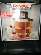 Vintage Wooden Rival Dolly Madison Electric 6 Quart Home Ice Cream Freezer Maker