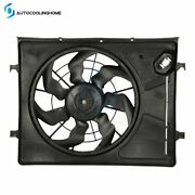 Electric Radiator Cooling Fan Assembly For 2007-2010 Hyundai Elantra Driver Side