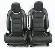2016-2020 Camaro Ss Factory Recaro Black Leather And Suede Front Seats Used Oem Gm