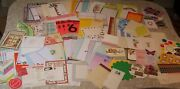 Junk Journal Huge Lot 100+ Ephemera Stationery Notes Cards Stickers Game Sheets