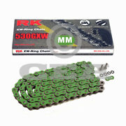 Motorcycle Chain Green Xw Ring Rk Mm530gxw With 120 Rolls And Rivet Link Open