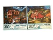 Lot 2 New Sealed Bits Pieces Halloween Farm Barn Trick Treat Country 300 Puzzles