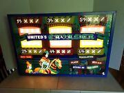 Vintage Pinball Machine Back Glass Cavalier Copyright 1976 With Wood Case
