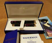 Waterman Lady Agathe Vintage Fountain Pen And Pen Holder - M 18k N0s