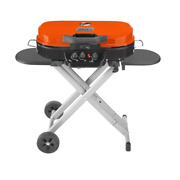 Outdoor Portable Gas Grill 3-burners Foldable Legs Cast Iron Pre-assembled
