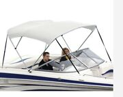 Shademate 80339 White Bimini Top Poly Fabric/boot4-bow 8and039l X 54h73-78w-new