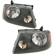 Pair Set Of 2 Headlights Lamps Left-and-right For F150 Truck Lh And Rh Ford F-150