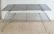 Pair Of Stacking Vintage Wire Cooling Racks Trays For Cake Biscuits Kitchenalia
