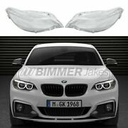 Headlight Plastic Lens Covers For Bmw 2 F22 / M2 F87 Pair Aftermarket