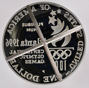 1 Dollar 1996-p Proof Torch Reverse Olympic Cancelled Die