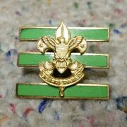 Vintage Boy Scout Jr Asst. Scoutmaster Hat Badge Is Circa The 1930's
