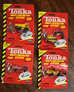 4 Vintage Tonka Mighty Construction Keychains 1998 Loader Dump Fire And Shovel
