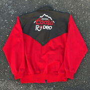 Vintage Coors Jacket Pro Rodeo Embroidered Western Mens Black Sz Xl