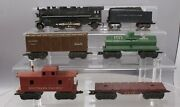 Marx Vintage O Post-war Freight Cars And Steam Loco W/tender [6]