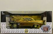M2 Machines 1/24 1957 Chevy Bel Air Mooneyes Gold Chase