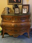 Vintage Dresser And Two Nightstands Solid Wood And Marble Top