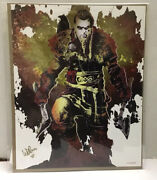 Assassins Creed Valhalla Exclusive Artist Signed Numbered 114/500 Coa Bam Exclsv
