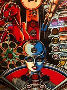 """1 """"prototype"""" Bally Xenon Pinball Playfield  Extra Art Added By Factory"""