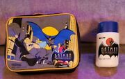 Batman The Animated Series Vintage 1993 Vinyl Lunchbox With 1992 Thermos