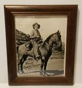 Gabby Hayes 8 X 10 Inch Framed Promotional Photo Signed Gabby Hayes No Coa