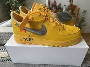 Nike X Off-white Air Force 1 Yellow Lemonade Ica Ow Af1 Gold Size 9.5 Ds Dd1876