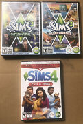 Lot Of 3 Different New Sealed The Sims Expansion Packs For Sims 3 And 4 Pc Games