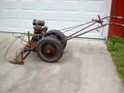 Antique Simplicity Model B Walk Behind 2 Wheel Tractor With Extras. Scarce
