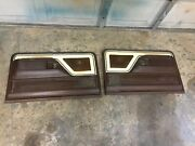 1973-1979 Ford Truck Lariat Door Panels Brown Tan W/ Inserts Very Rare Nice