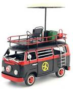 Oversized Metal Tin Toys Camper Van Wagenbus Camping Specifications Black