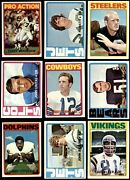 1972 Topps Football Low Number Complete Set 6 - Ex/mt