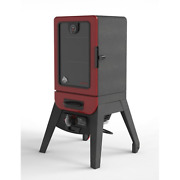 Pit Boss 2 Series Gas Vertical Smoker 542sq In. Wood Chip Smoker Red