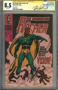 Avengers 57 Cgc Ss Uk Edition 1st Vision 1968 Signed Stan Lee Rare Wanda Vision