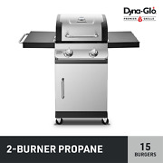 Dyna-glo Dgp321snp-d Premier 2 Burner Stainless Steel Propane Gas Grill Outdoor
