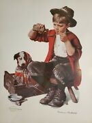 Norman Rockwell Seriolithograph Bedside Manner In Color On Paper And Framed