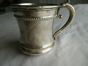 Antique 1825 Sterling Silver Baby Cup English Birmingham 80 Grams 1909 Engraving