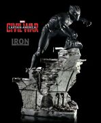 Iron Studios 1/4 Scale Civil War Black Panther Statue Read Issue