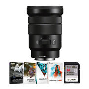 Sony E-mount Pz 18-105mm F/4 G Oss Lens With 32gb Sd Card And Software Bundle