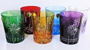 Waterford Crystal Multicolor Rare Collection Snowflake Wishes Whiskey Dof Set /6