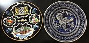 Authentic German Vintage Decorative Wall Plate Lot 7 Pieces 10 Inch Plates
