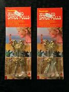 Vintage Lot Of 2 Beadangles Jeweled Shade Pulls New Old Stock