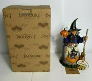 Rare Jim Shore Bewitched Witch Cat Broom Halloween Figurine 4016050 Rare