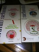 Lot Of 4 Schmid Vtg Peanuts And Disney Collector Plates 1977to 1978 W/boxes